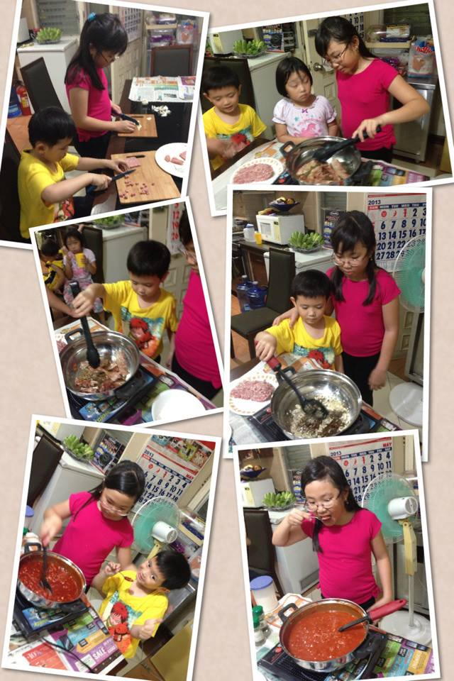 Learning to make pasta sauce