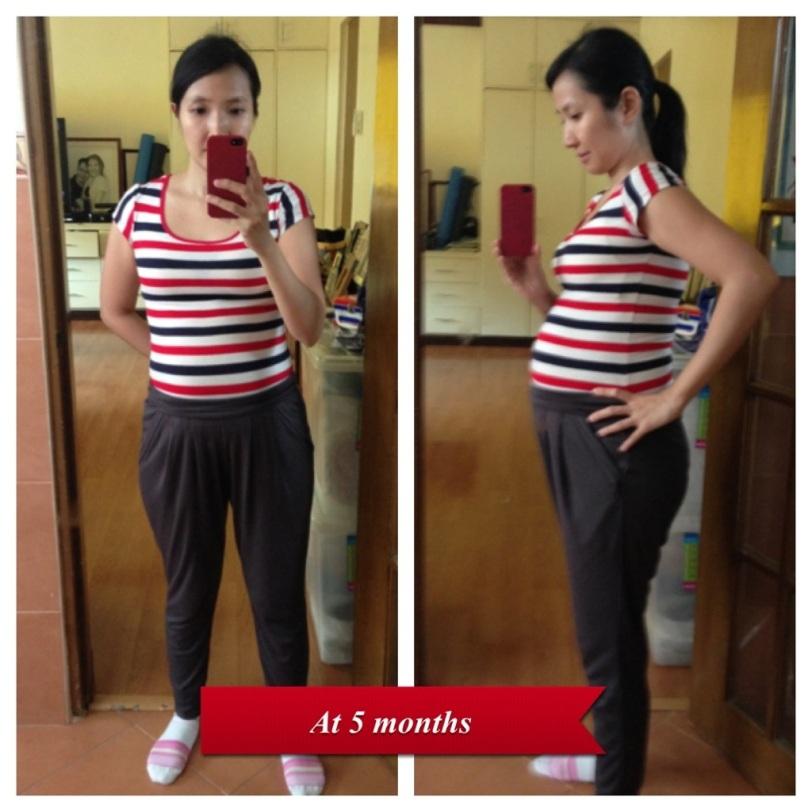 5 months pregnant