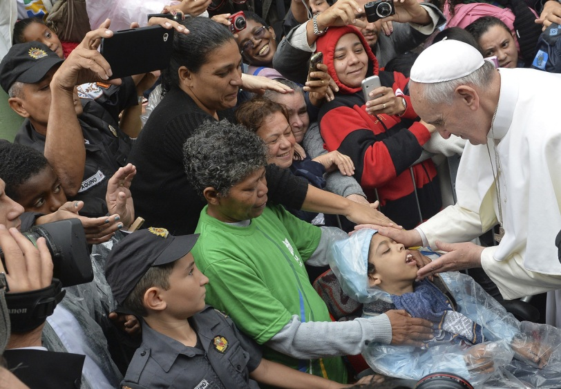 Pope Francis visiting slums