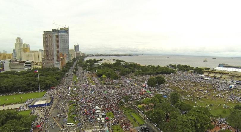 Paul Alcazaren, Luneta Rally, Million People March