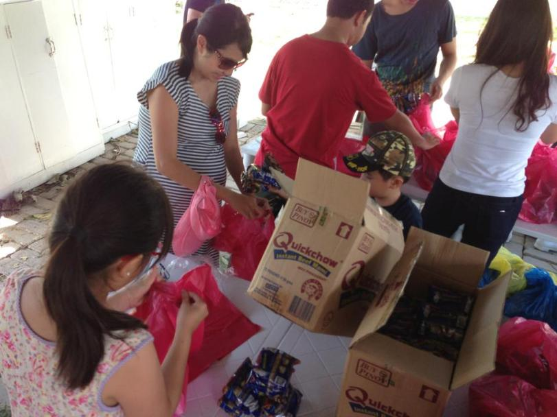 Repacking of relief goods for Typhoon Yolanda Victims