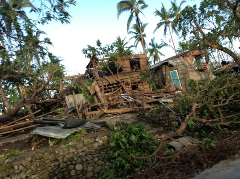Destroyed Homes in Northern Cebu after Typhoon Yolanda